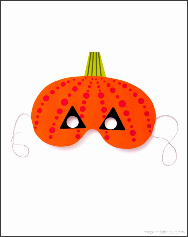 Printable Halloween Pumpkin Kids Mask