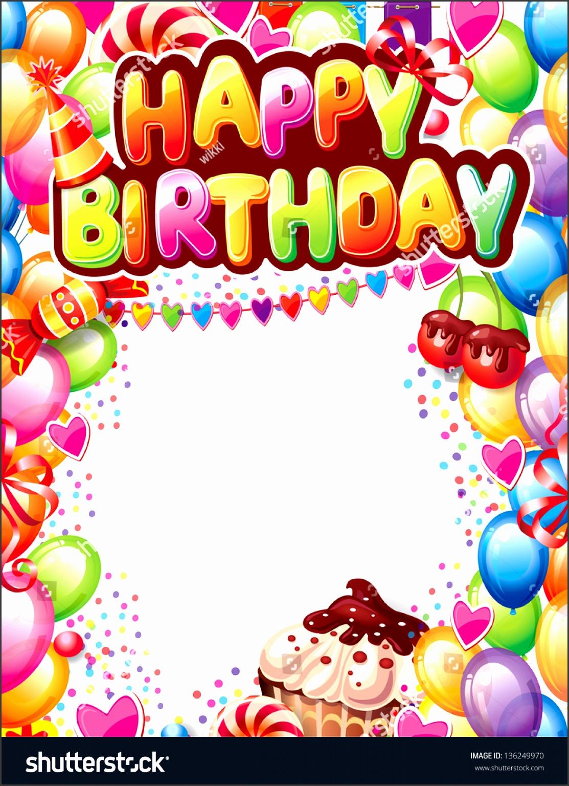 template happy birthday card stock vector shutterstock Birthday card
