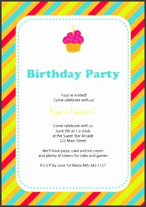 Birthday Template Invitation Free Printable Birthday Party Invitation Templates