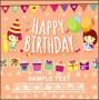 7  Happy Birthday Postcard Template