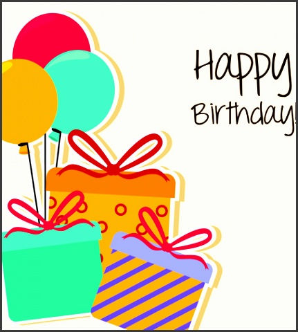 Cartoon Greeting Card Cartoon Style Happy Birthday Greeting Card Template Free Vector In Template