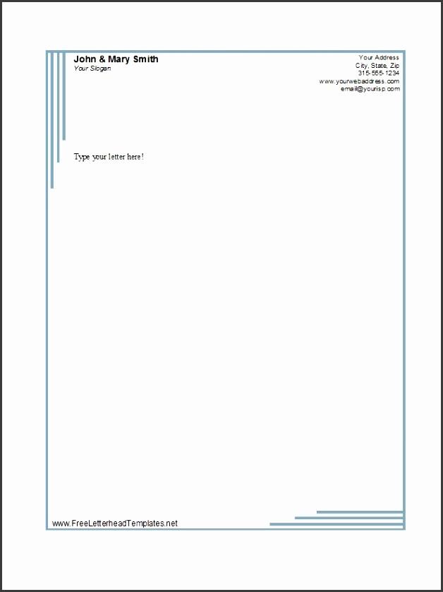 Printable Letterhead Template 02
