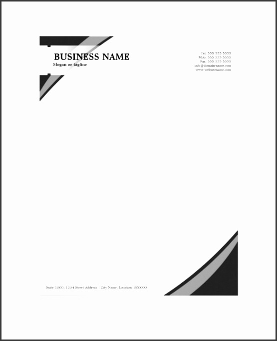 samples of letterhead designs 15 professional letterhead templates free sample example