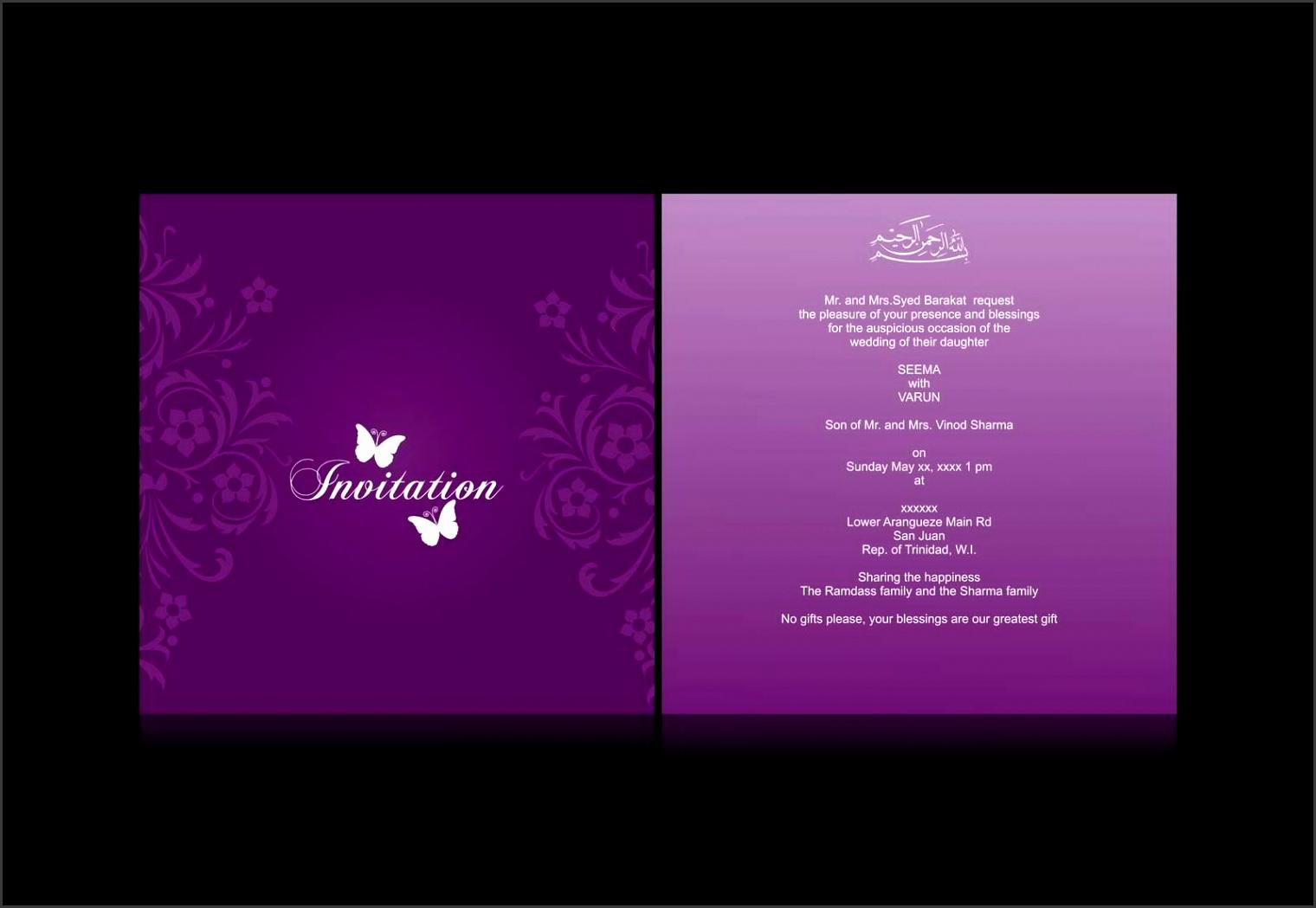 Wedding Invitation Card Wedding Invitation Cards Designs Dark Purple Magenta Accent With Unique Swirl Flowery Art
