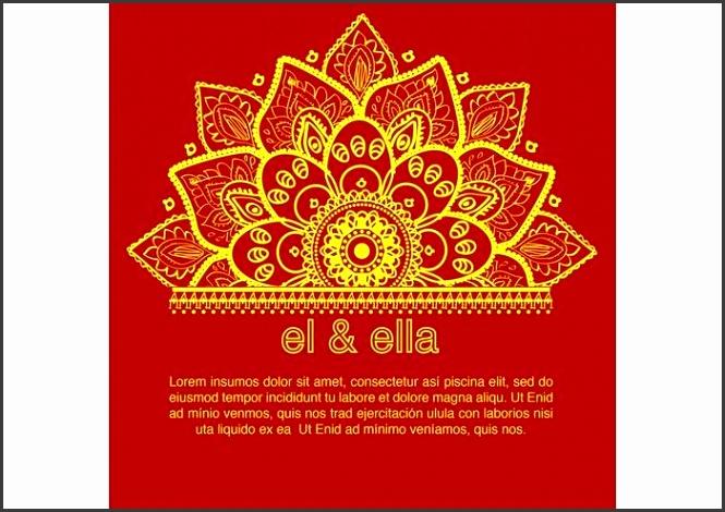 Weddinginvitations Indian Wedding Card Elegant Indian Wedding Card Template Download Free Vector Art Stock