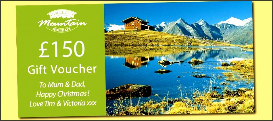 Walking Holiday and Skiing Holiday Gift vouchers
