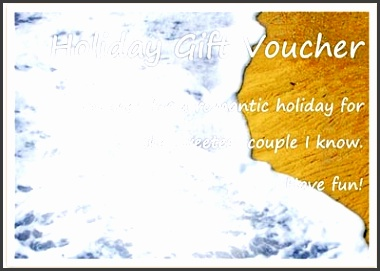 Holiday Gift Voucher Template