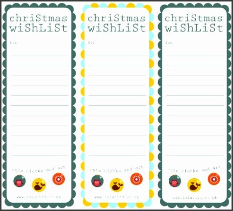 Printable Christmas Wishlist Gift Tags