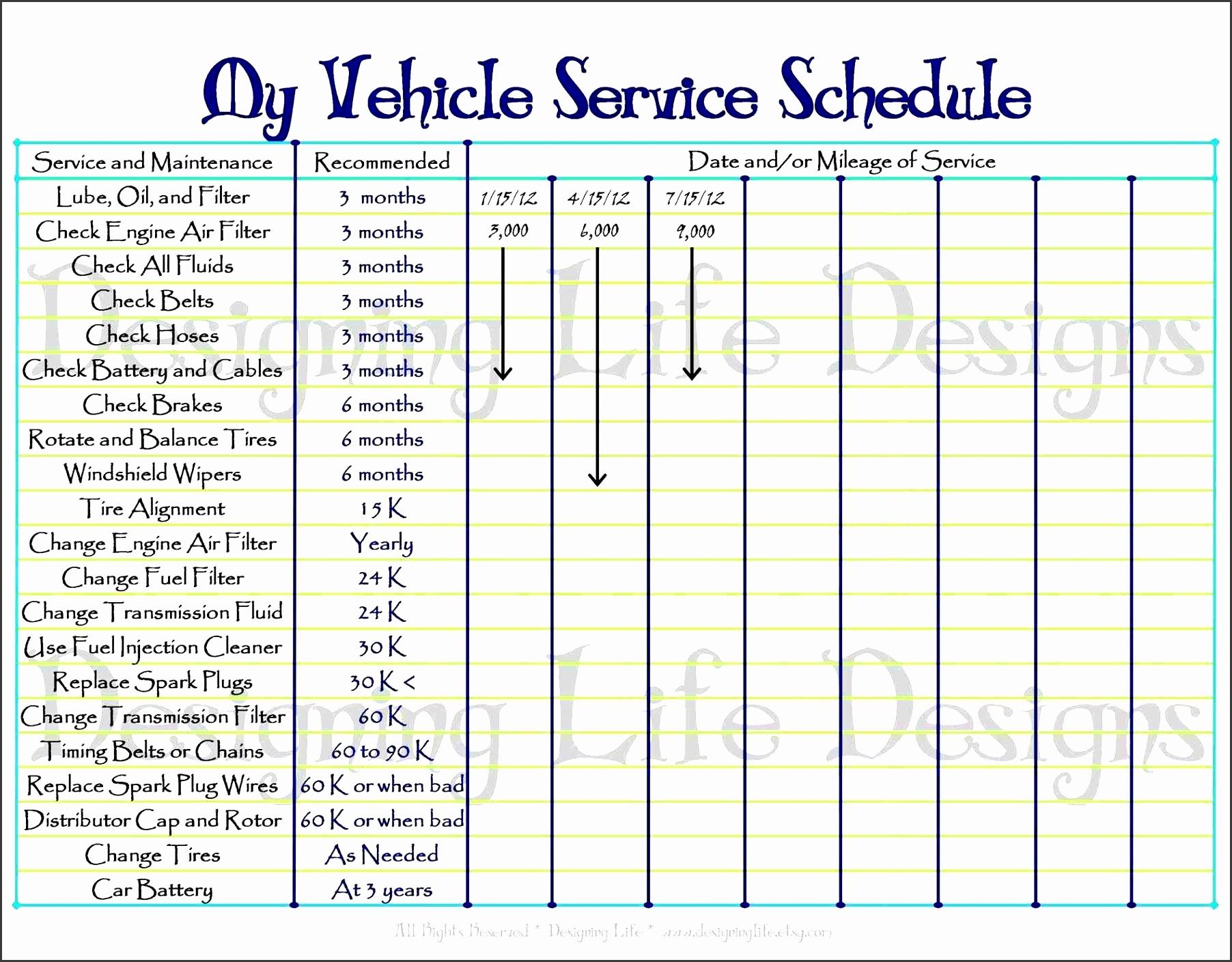 Home Maintenance Plan New Car Maintenance Checklist Template Preventive Maintenance
