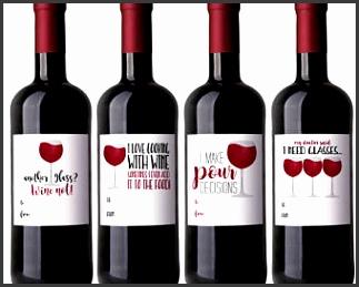 Funny Wine Labels Digital Printable Labels Set of 4 Designs Wine Lover Jokes