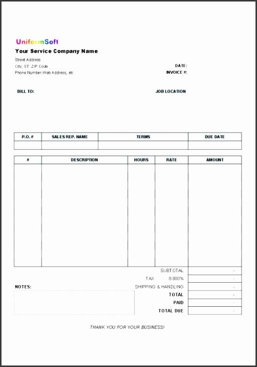 Hours Invoice Template Invoice Template Hours Worked Invoice Example
