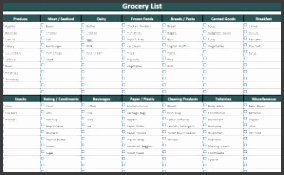 Grocery List Small
