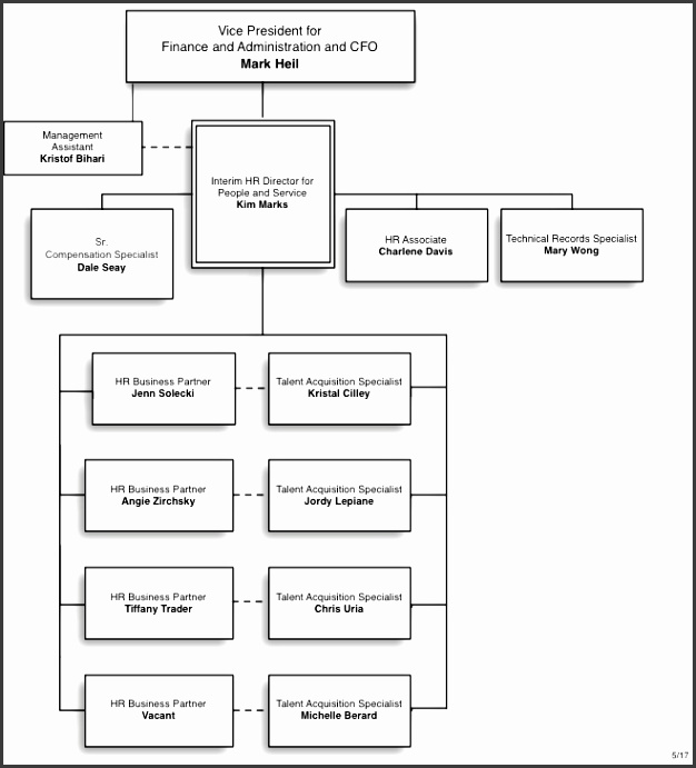 People and Service Team Organization Chart