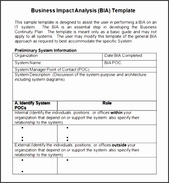 Impact Analysis Template Clxl Business Impact Analysis 5 Documents In Word Pdf