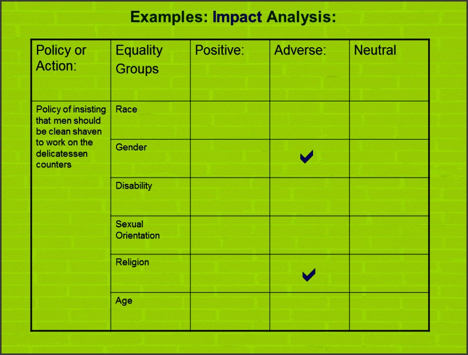 EQUALITY IMPACT ASSESSMENT EXAMPLE