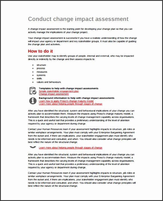 impact assessment change management