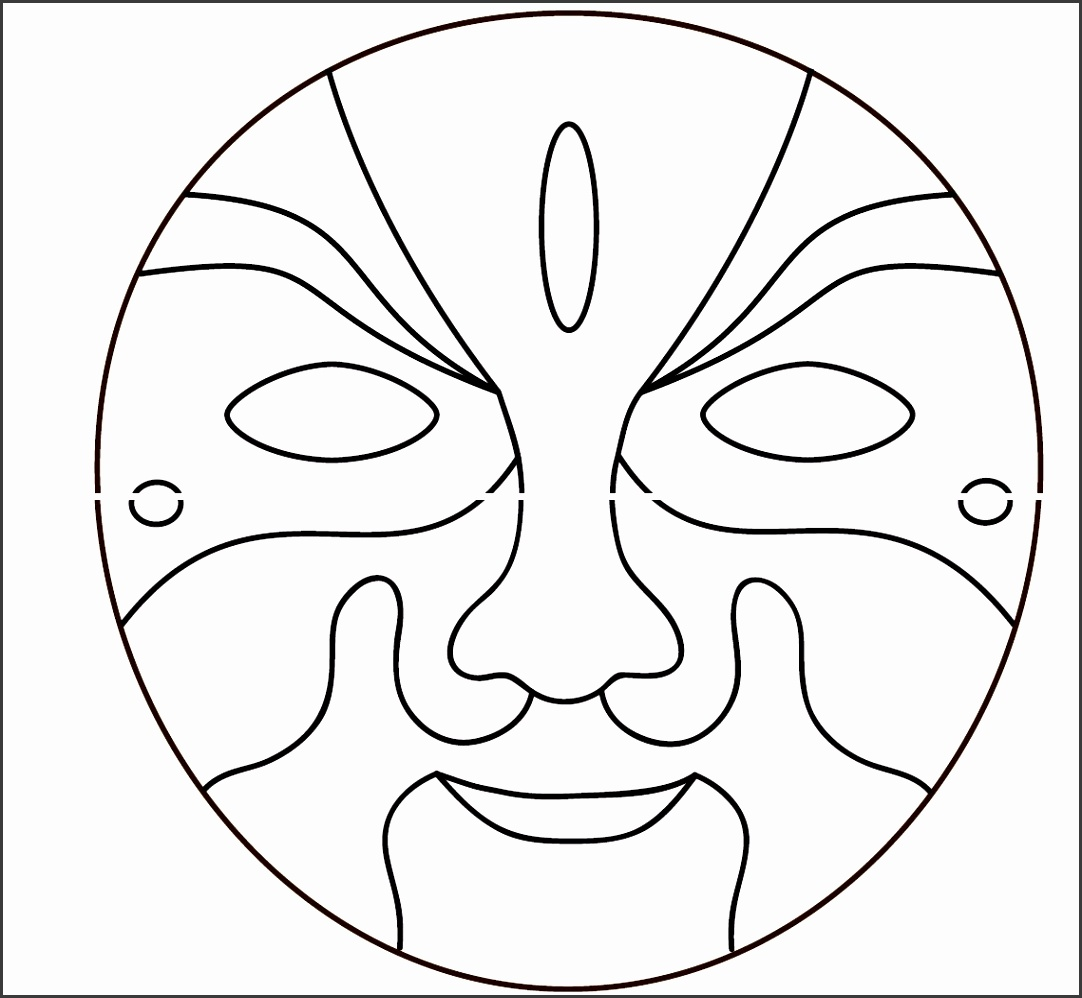 African Mask Chokwe Angola Zaire Clip Art At Clker Vector
