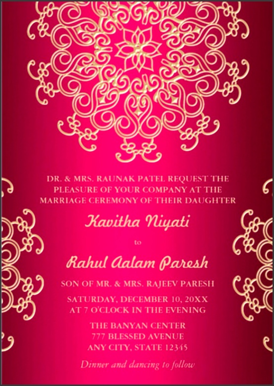 fuschia and gold wedding invitations 29 formal invitation templates free sample example format ideas