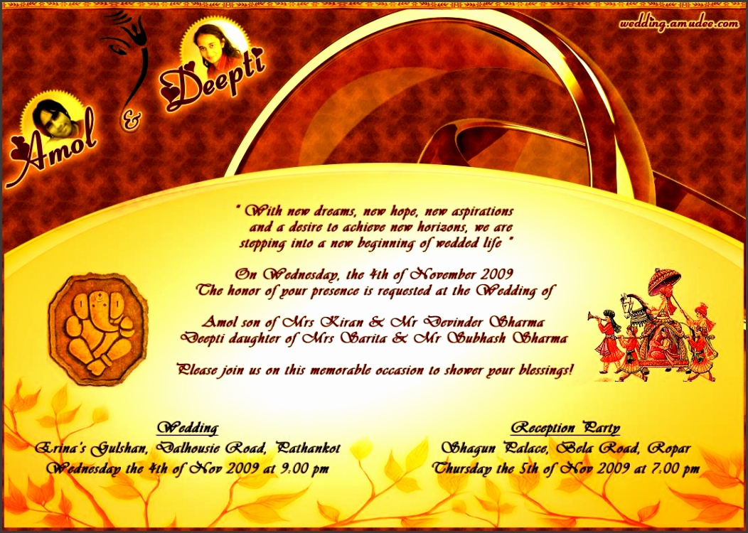 editable hindu wedding invitation cards templates free