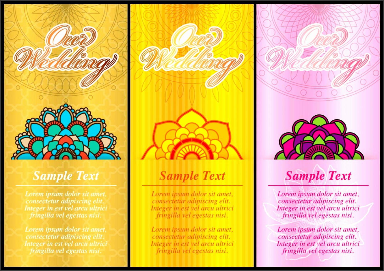 Image Indian Wedding Card Template size