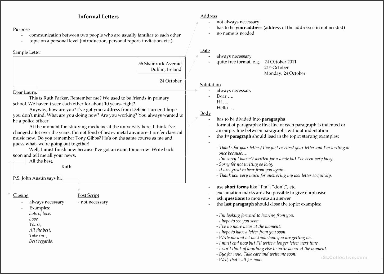 Invitation formal and Informal format Best Writing An Informal Letter Worksheet Free Esl Printable