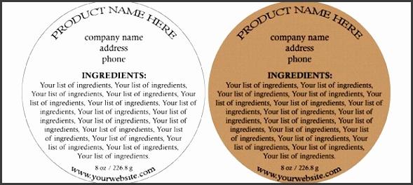 ingre nt label template