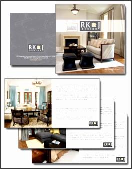 custom interior design brochure