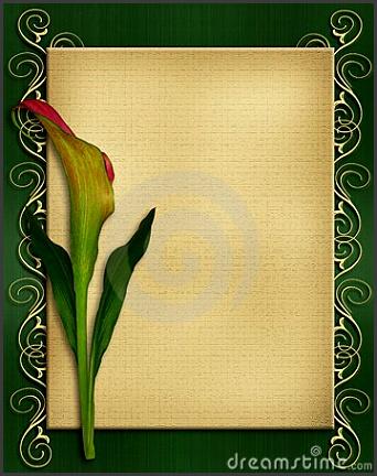 card design ideas classic brown paper picture on green Invitation templates