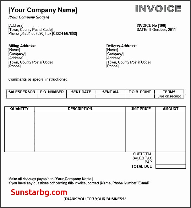 Sales Invoice format for Invoice Template Elegant Invoice Template Free Download Word Excel Service Invoice Template