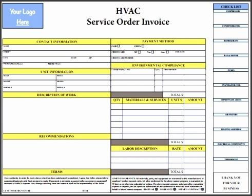 PDF HVAC Invoice Template Free Download