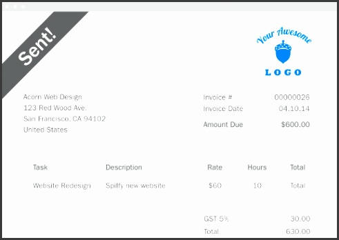 Free Invoice Template Freshbooks Free Invoice Template Invoice Maker Freshbooks Templates