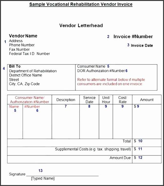 vendor invoice template vendor invoice tracking template