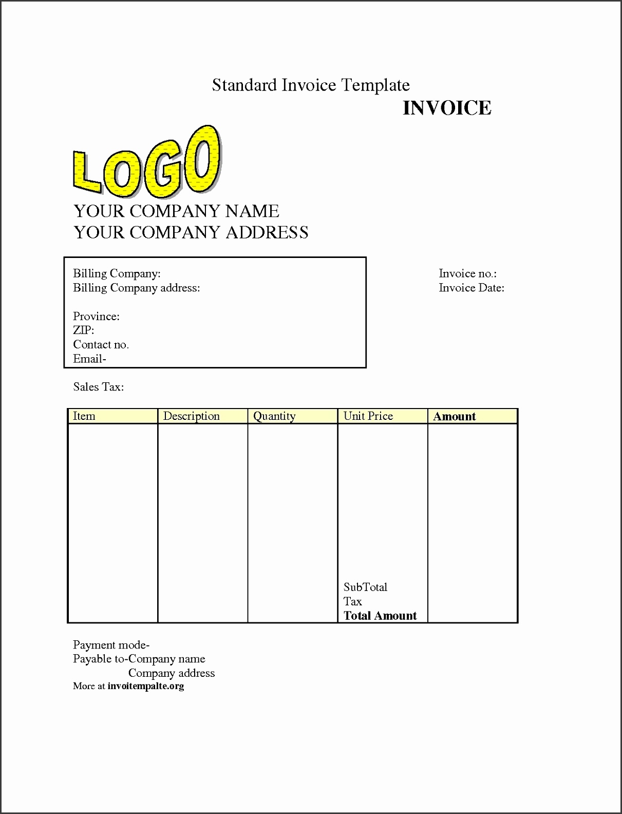 Inspirational Collection Free Invoice Template For Word Invoice Template Free Download Invoice Template Free 2016