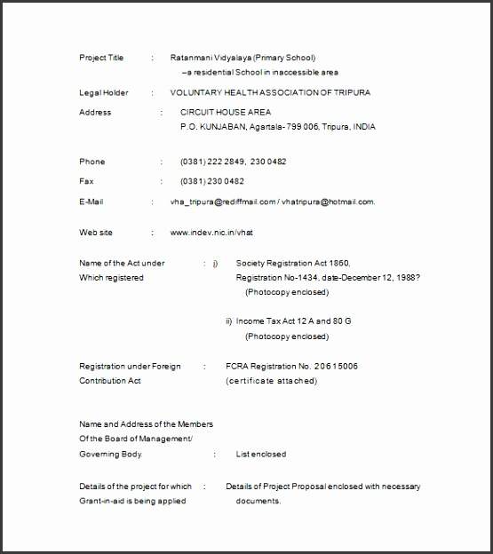Project Proposal for School Sample Template