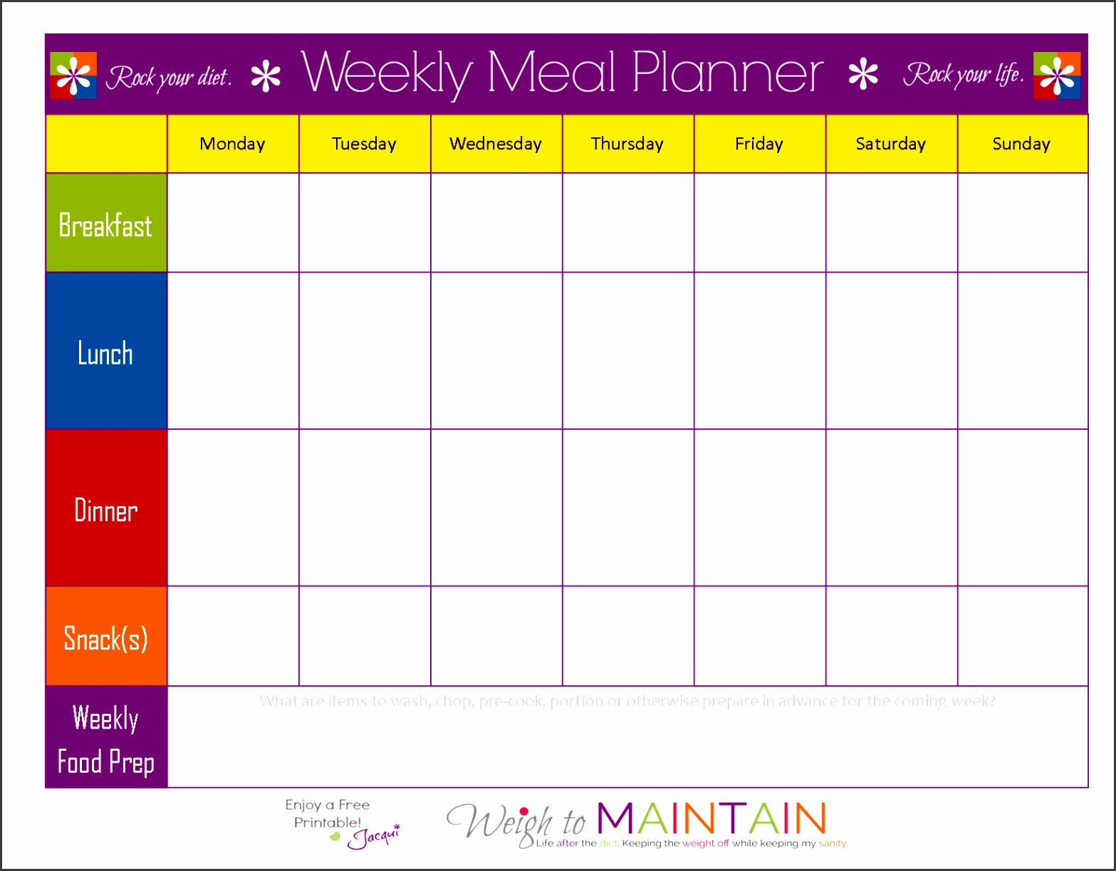 27 21 Day Fix Meal Plan Template Infovianet Printable Blank Meal Plan 21 Day