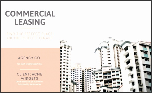 mercial Lease Proposal Template