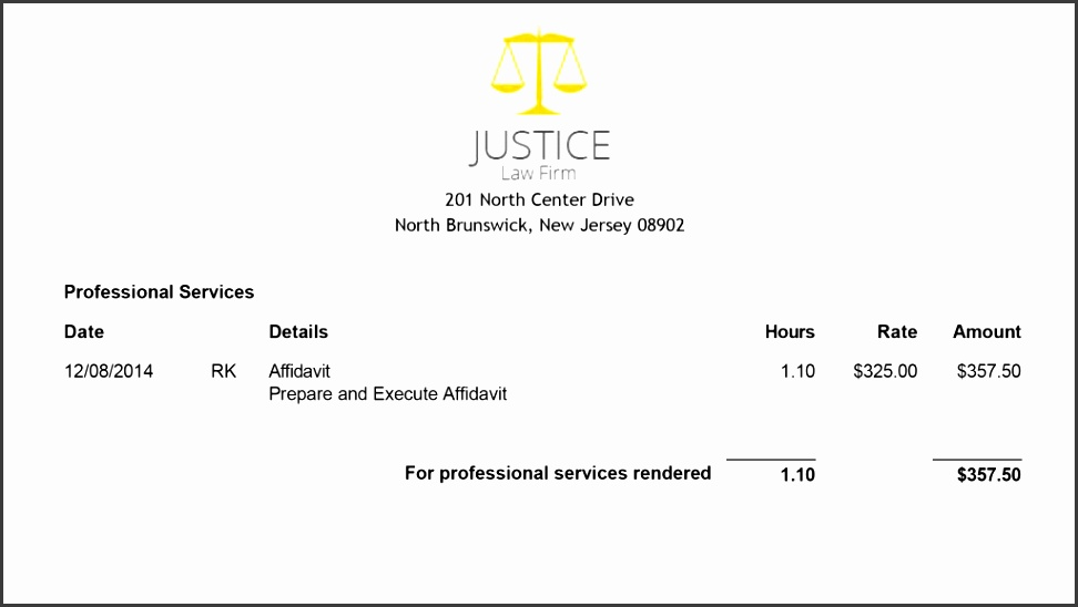 Legal Invoice Template for Attorneys Customizable & Professional