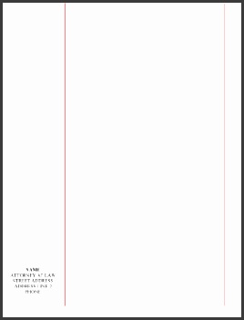 Legal Pleading Template Blank Legal Pleading Paper Red Lines Personalized Margin …