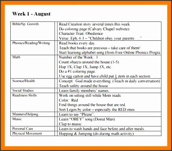 4 sample preschool lesson plan teller resume sample preschool lesson plan weekly preschool lesson plan templateg