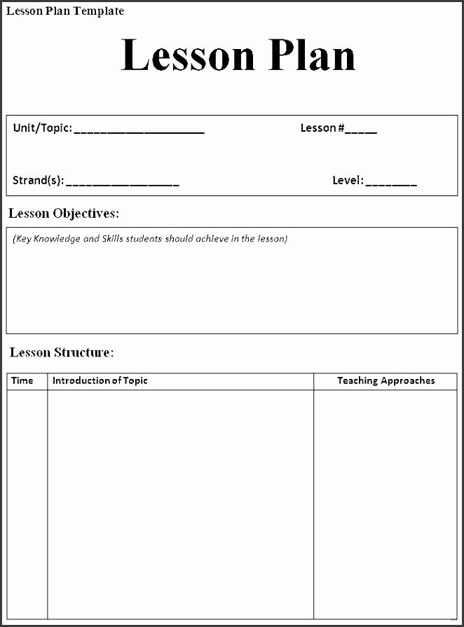 weekly lesson plan for preschool blank lesson plan template blank lesson plan template preschool templates elegant