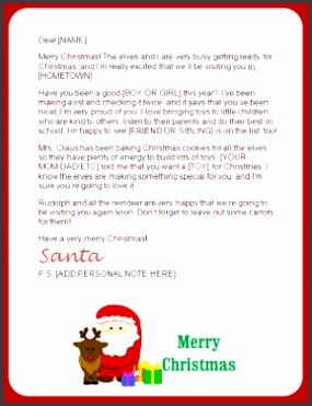 printable santa letters reindeer design