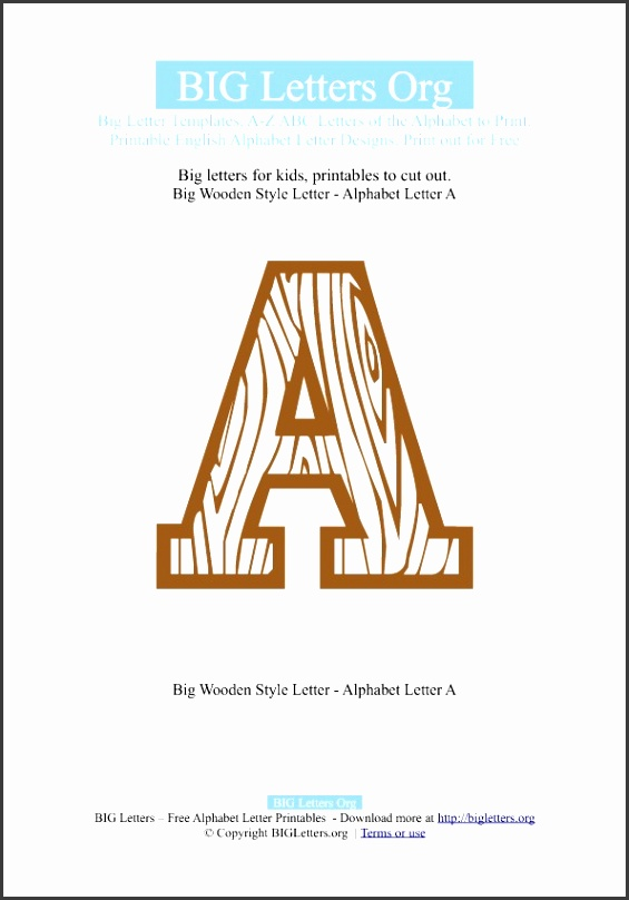 Printable Big Letter Templates A to Z