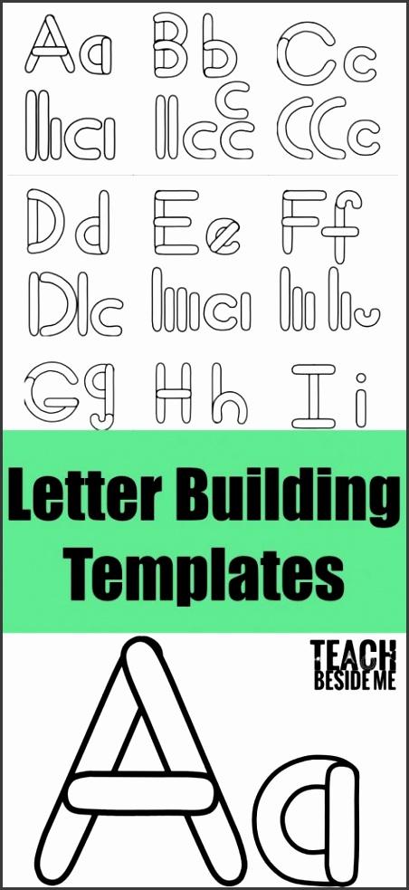 Alphabet Letter Building Templates