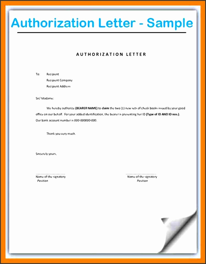 6 authority letter sample