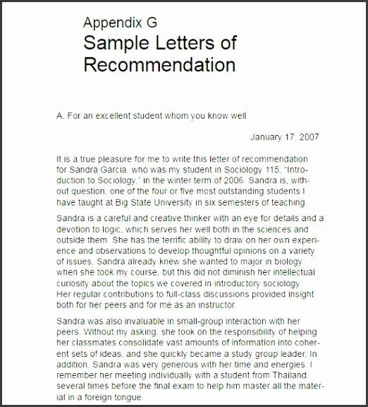 High School Letter of Re mendation Template