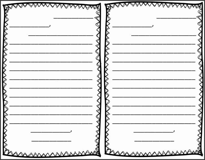 Friendly Letter Template Freebie Manic Monday