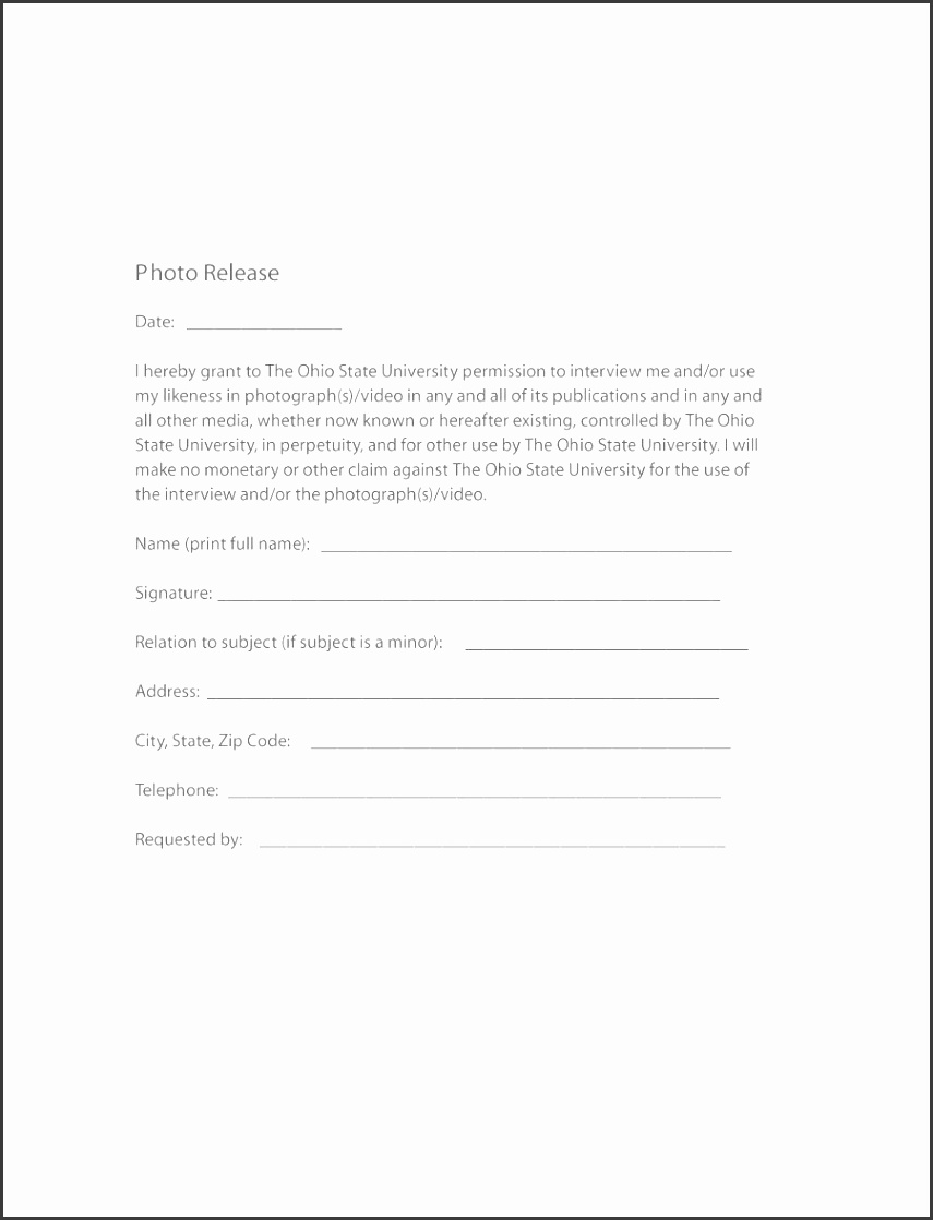 Printable photo release form 08