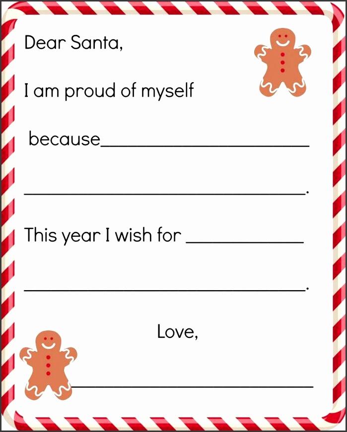 FREE Printable Letter to Santa Template Polar Express
