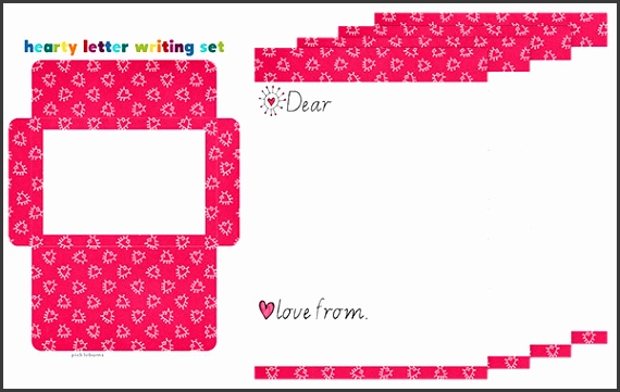 Free printable Valentines writing paper set for kids