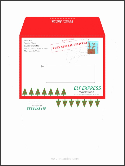 mrprintables letter from santa envelope